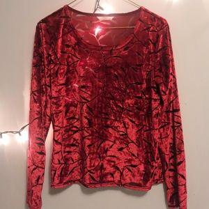 Beautiful velvet patterned top
